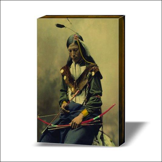 Quadro Painel em Tecido Canvas Índio