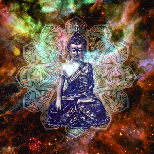 Placa Decorativa Estatua de Buda