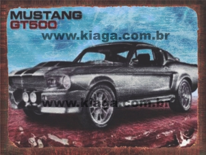 Placa Decorativa Carro Mustang GT500