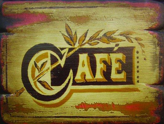 Placa Decorativa Café