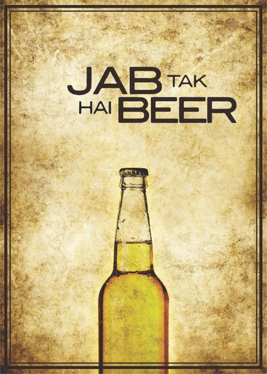 Placa Decorativa Jab Tak Hai Beer