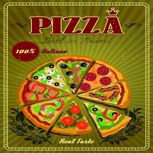 Placa Decorativa Pizza Best In Town 100% Italiano