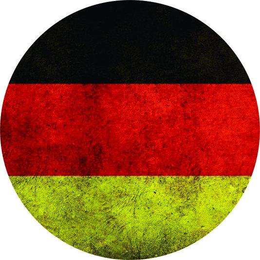 Placa Decorativa Redonda Bandeira da Alemanhã
