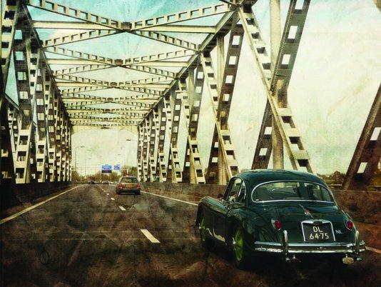 Placa Decorativa Foto Vintage Ponte