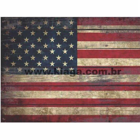 Placa Decorativa Vintage Bandeira Estados Unidos da America USA