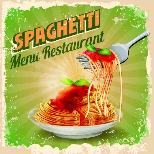 Placa Decorativa Spaghetti Menu Restaurant