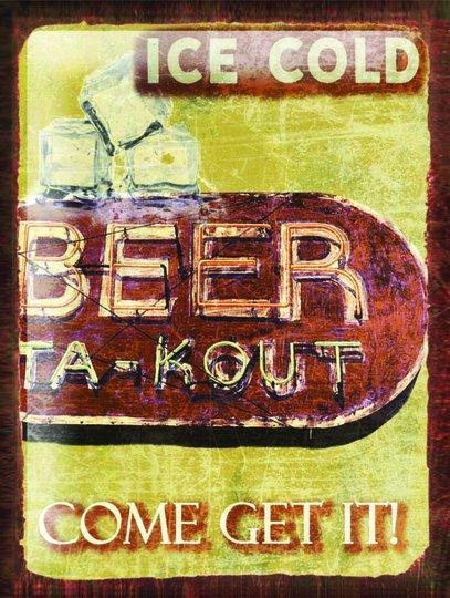 Placa Decorativa Ice Cold Beer