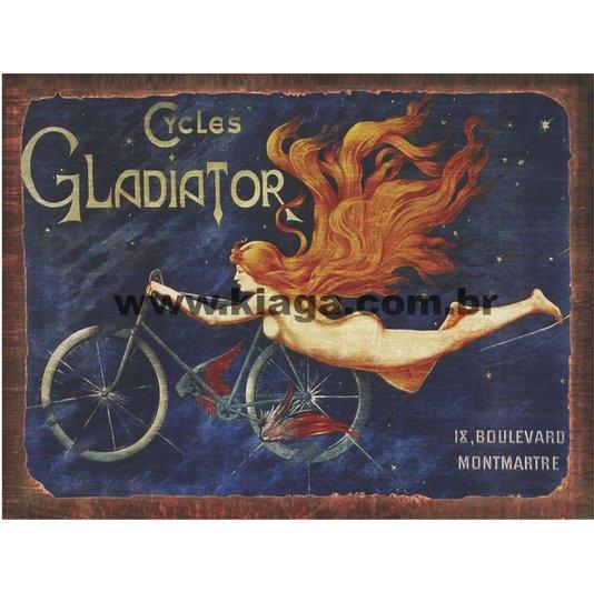 Placa Decorativa Bicicleta Vintage Les Cycles Gladiator