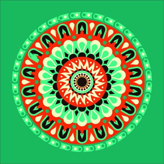 Placa Decorativa Mandala Espiritual