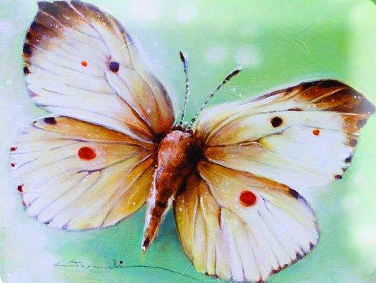 Placa Decorativa Borboleta Vintage Marrom
