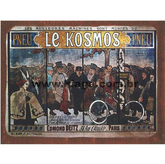 Placa Decorativa Bicicleta Vintage Pneu Le Kosmos