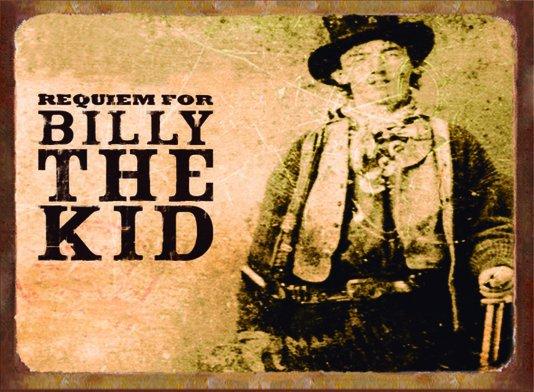 Placa Decorativa Western Requiem For Billy The Kid