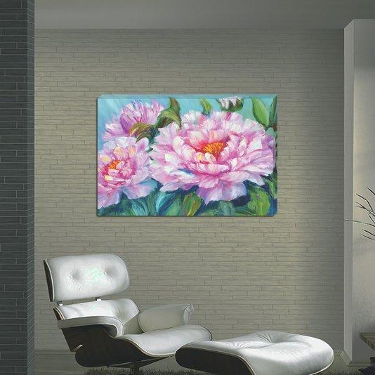 Quadro Painel em Tecido Canvas Flores