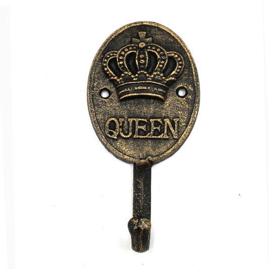 Cabideiro de Ferro Queen Crown Dourado - URBAN