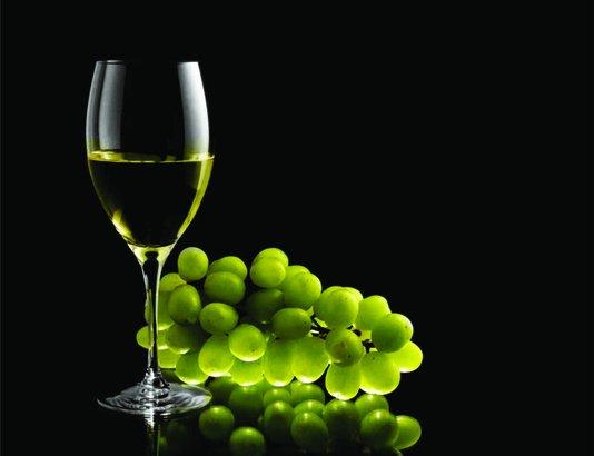 Placa Decorativa Vinho Branco