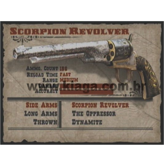 Placa Decorativa Scorpion Revolver