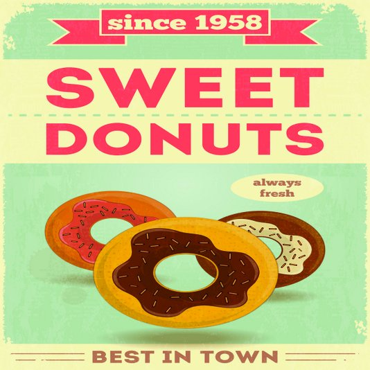 Placa Decorativa Sweet Donuts Best In Town Sice 1958