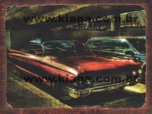 Placa Decorativa Carro Cadillac