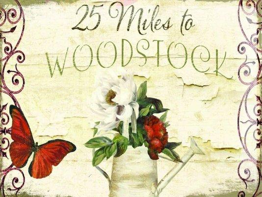 Placa Decorativa 25 Miles to Woodstock
