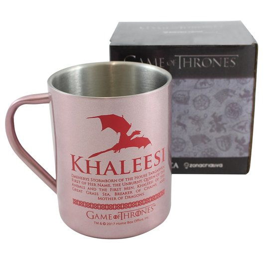 Caneca De Aço Khaleesi - Game Of Thrones - ZONACRIATIVA