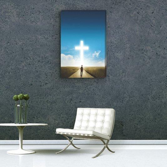 Quadro Painel em Tecido Canvas Caminho da Luz