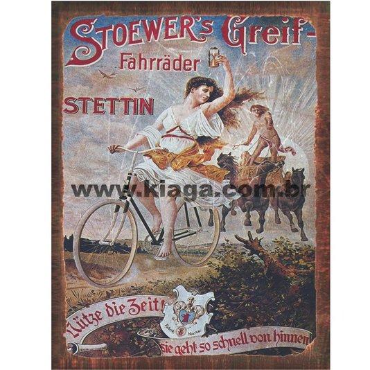 Placa Decorativa Bicicleta Stoewer's Greif