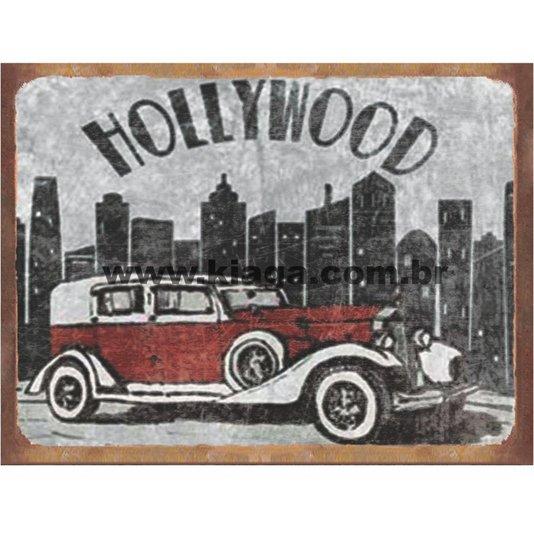 Placa Decorativa Carro Antigo Hollywood