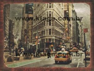 Placa Decorativa Foto Antiga Nova York
