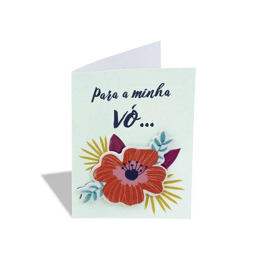 Super Ímã e Cartão - Vó Floral - GEGUTON