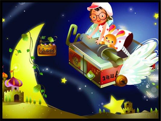 Placa Decorativa Infantil O Luar Encantado