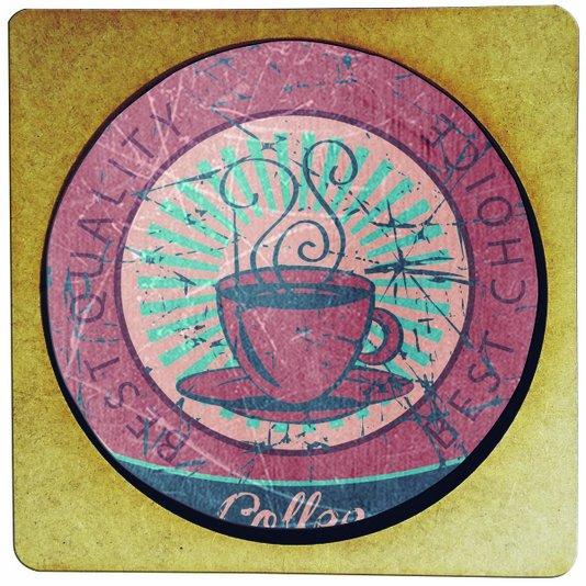 Porta Copo em MDF Coffee