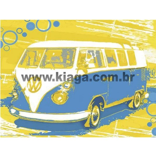 Placa Decorativa Vintage Kombi
