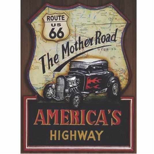 Placa Decorativa The Mother Road Route 66