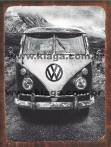 Placa Decorativa Vintage Kombi
