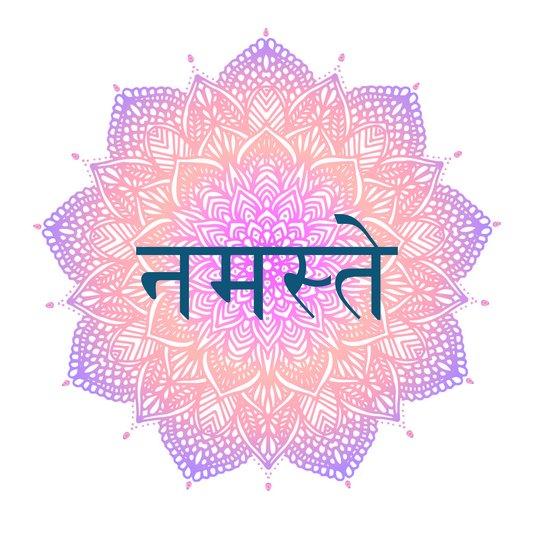 "Placa Decorativa Frase: ""Namastê"" em Hindi"