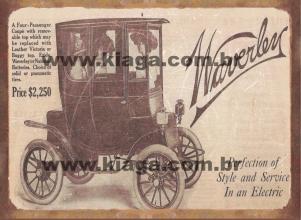 Placa Decorativa Anúncio de Carro Clássico