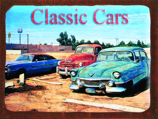 Placa Decorativa Classic Car