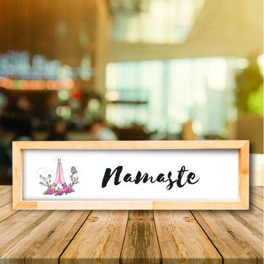 Quadro Mensagem Namaste