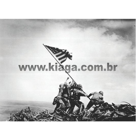 Placa Decorativa Guerra Iwo Jima