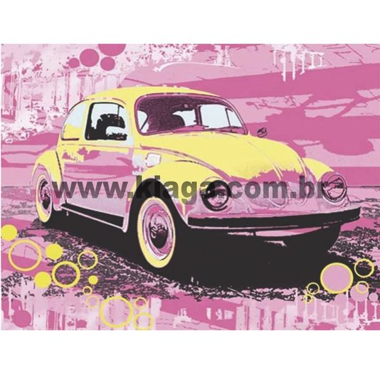 Placa Decorativa Vintage Fusca