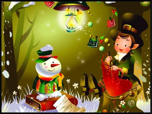Placa Decorativa Infantil o Boneco de Neve