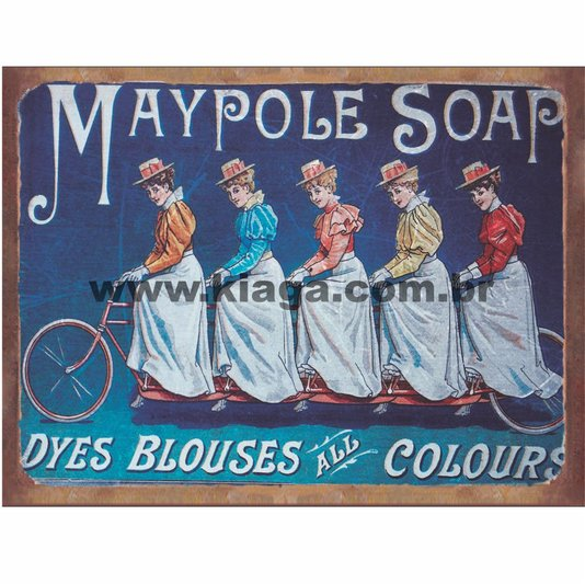 Placa Decorativa Bicicleta Maypole Soap
