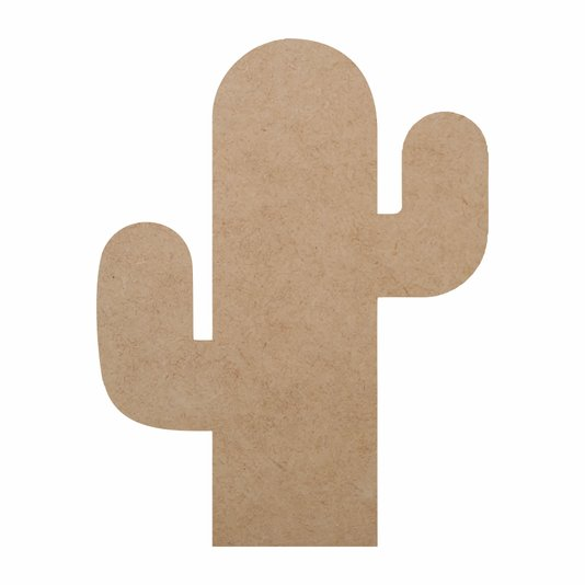 Aplique de Mdf 3mm para Artesanto em Forma de Cactus