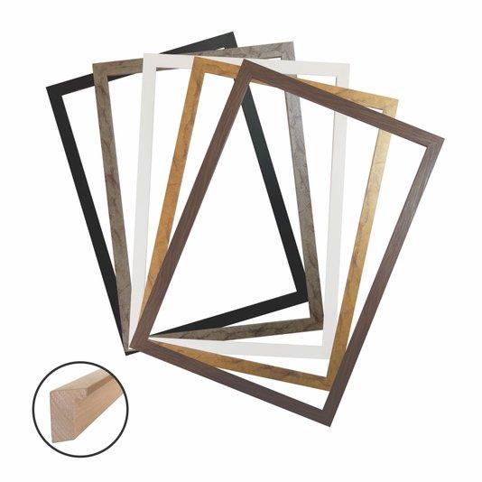 Aro de Moldura Caixinha para Quadros Fotos e Placas Decorativas - 1,5x3