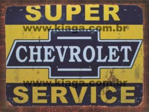 Placa Decorativa Vintage Placa Super Chevrolet Service