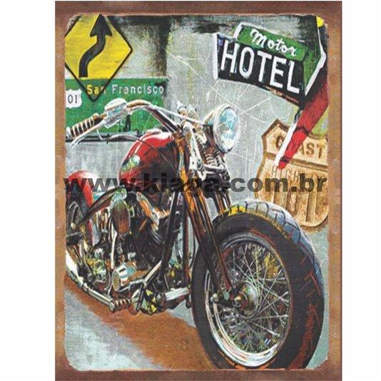 Placa Decorativa Moto Vintage