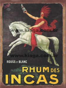 Placa Decorativa Rhum Des Incas