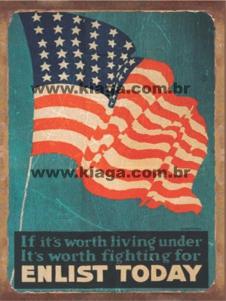 Placa Decorativa Enlist Today