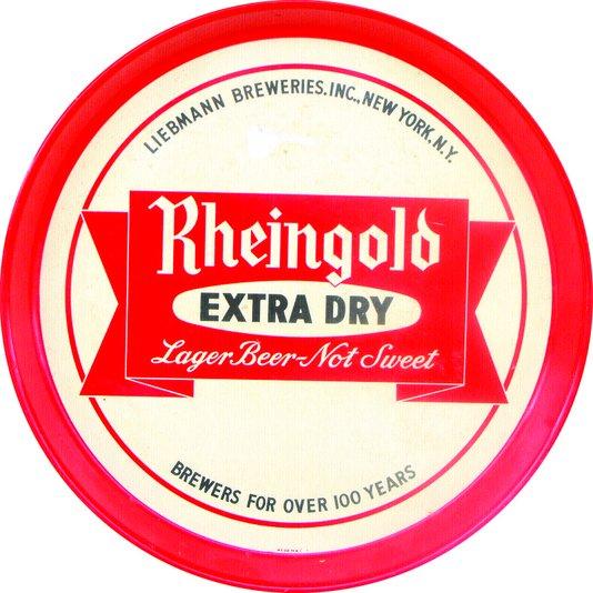 Placa Decorativa Redonda Rheingolo Extra Dry lager Beer