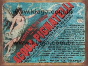 Placa Decorativa Publicidade Antiga Acqua Pignatelli